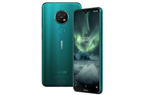 Nokia 7.2 sử dụng khung viền bằng nhựa, 2 bề mặt phủ kính cường lực Corning Gorilla Glass 3. Máy có số đo 159,9x71,2x8 mm, cân nặng 160 g.
