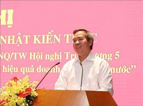 Đồng chí Nguyễn Văn Bình, Ủy viên Bộ Chính trị, Bí thư Trung ương Đảng, Trưởng Ban Kinh tế Trung ương phát biểu tại Hội nghị. Ảnh: Phương Hoa/TTXVN