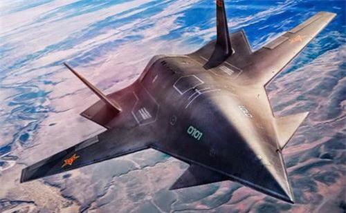 Đồ họa máy bay không người lái Dark Sword của Không quân Trung Quốc. Ảnh: China Defence.