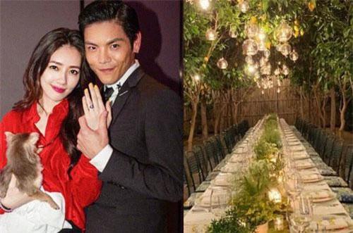 Những hình ảnh ít ỏi trong đám cưới bí mật của Quách Bích Đình và Hướng Tả