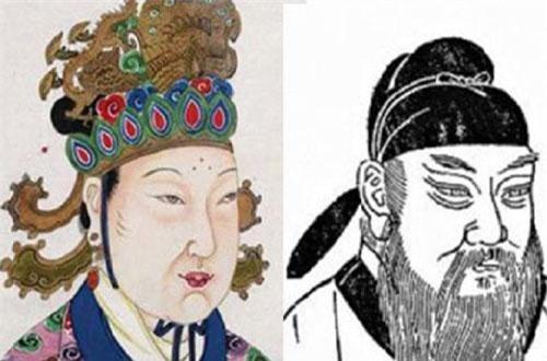 Tranh vẽ Võ Tắc Thiên và Địch Nhân Kiệt.