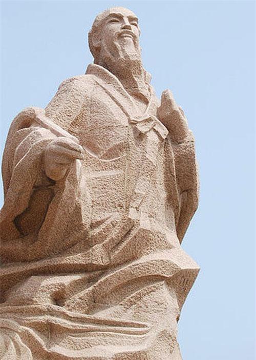 Bức tượng Từ Phúc vượt biển tại Sơn Đông, Trung Quốc. Ảnh: Wikipedia.org.