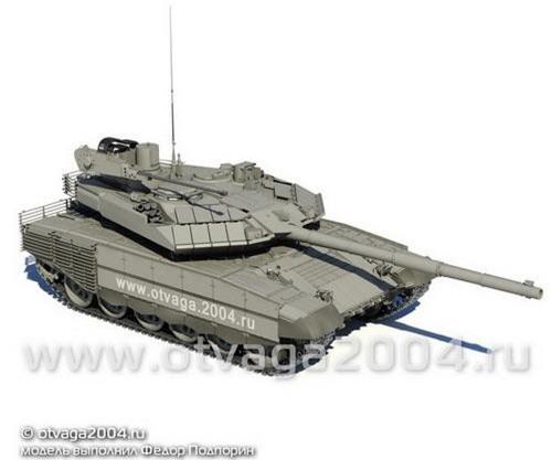 T-90M Proryv-3 sẽ đảm nhiệm được cả vai trò của BMPT khi tích hợp pháo 2A42. Ảnh: Otvaga 2004.