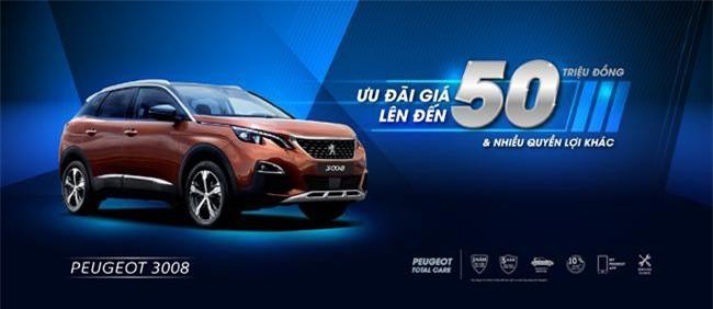 Mua xe Peugeot 3008 ưu đãi lên đến 50 triệu đồng