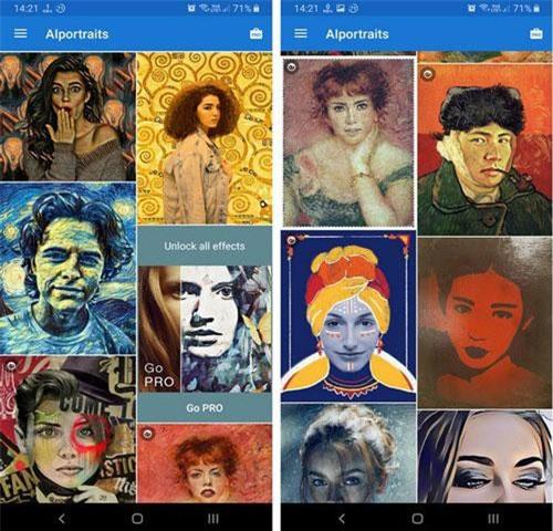 AI Portraits được tích hợp trí tuệ nhân tạo để ghi nhớ phong cách vẽ tranh của các họa sĩ nổi tiếng thế giới như Vicent Van Gogh, Edvard Munch hay Leonardo da Vinci