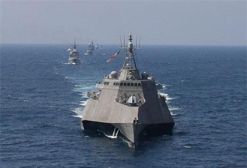 Tàu USS Montgomery tham gia tập trận ASEAN - Mỹ hồi tháng 8 (Ảnh: AFP)