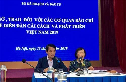 Họp báo về Diễn đàn cải cách và phát triển Việt Nam năm 2019.