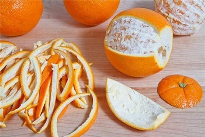 Vỏ cam quýt giúp cho quần áo thơm