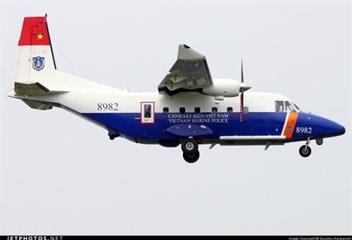 Máy bay vận tải - tuần thám biển CASA C-212 của Cảnh sát biển Việt Nam. Ảnh: Jetphotos.net