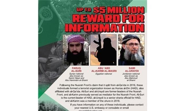 Mỹ treo thưởng 5 triệu USD cho thông tin về thủ lĩnh al-Qaeda - Ảnh 1.