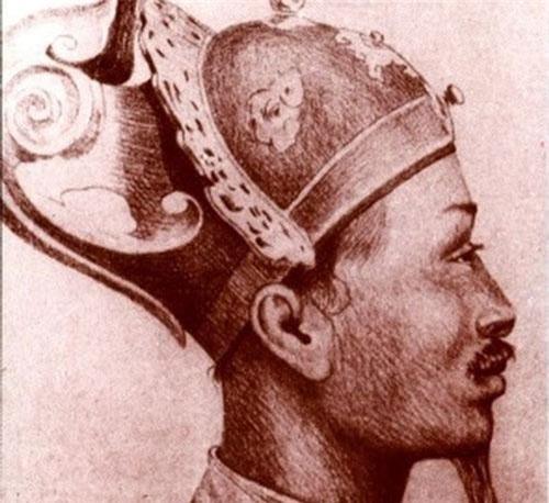 Phác họa chân dung vua Tự Đức.