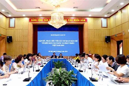 Toàn cảnh buổi họp báo. Ảnh:VGP/Huy Thắng.