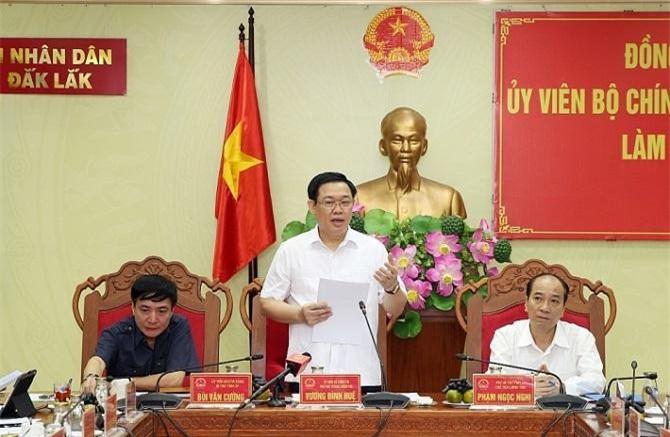 Phó Thủ tướng Vương Đình Huệ phát biểu