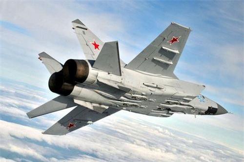Tiêm kích đánh chặn tầm xa MiG-31 Foxhound. Ảnh: Sputnik.