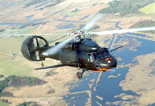 Trực thăng X-49A SpeedHawk trong một chuyến bay thử nghiệm. Ảnh: National Interest.