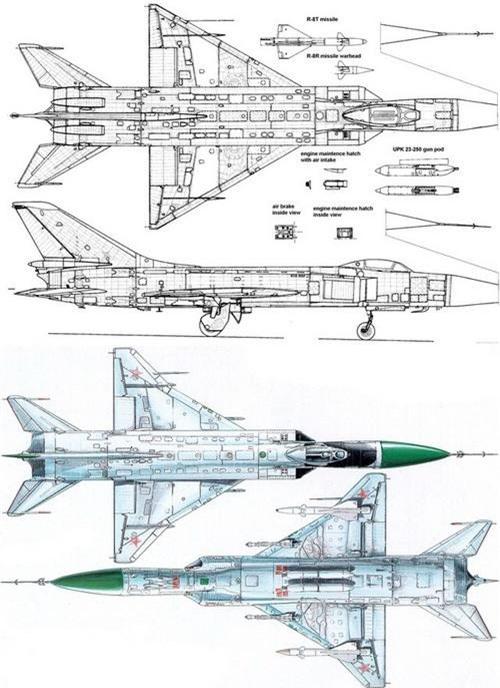 Quá trình biến đổi của đôi cánh tiêm kích Su-15 Flagon. Ảnh: Wikipedia.