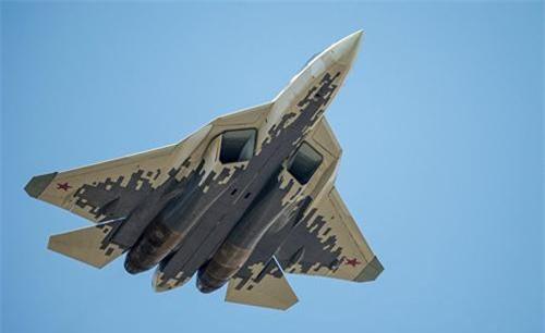 Máy bay chiến đấu thế hệ thứ năm Su-57 của Nga. (Ảnh: RIA)