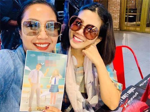 Mai Phương đi xem phim cùng Ốc Thanh Vân.
