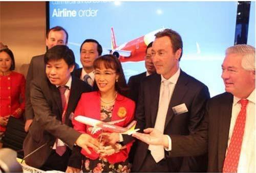CEO của Vietjet Air - bà Nguyễn Thị Phương Thảo là một trong những người giàu nhất thị trường chứng khoán