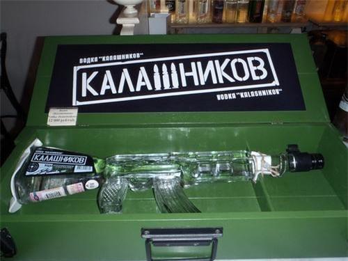 Phiên bản chai đặc biệt của rượu vodka Kalashnikov. Ảnh: Sputnik.