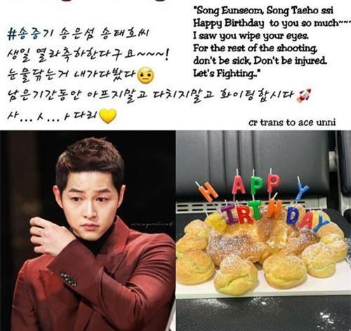 Khác với những năm trước, sinh nhật năm nay của Song Joong Ki chỉ có bạn bè bên cạnh thay vì Song Hye Kyo - vợ cũ của anh.