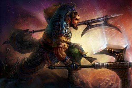 Điển Vi từng là ái tướng dưới trướng Tào Tháo và thường xuyên có mặt trong những bảng xếp hạng về sức mạnh, võ lực liên quan tới các nhân vật Tam Quốc. (Tranh minh họa).