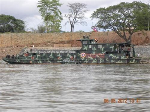 Một xuồng tuần tra đường sông của Hải quân nhân dân Lào thời điểm năm 2012. Ảnh: Wikipedia.
