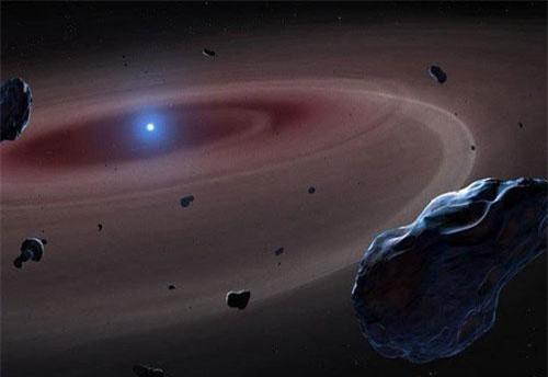 Minh hoạ một sao lùn trắng - và những gì còn sót lại của một hệ mặt trời sau khi ngôi sao trung tâm đã chết. (Ảnh: Mark A. Garlick).