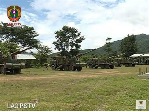 Pháo tự hành CS/SH1 của Quân đội nhân dân Lào. Ảnh: Lao PSTV.