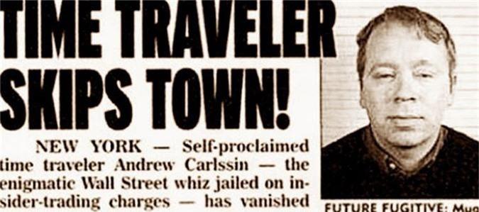 Bài báo đăng tin về Andrew Carlssin, người đến từ năm... 2256.