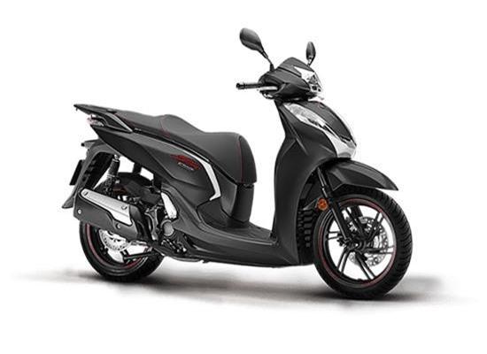 Honda SH 300i màu xám đen.