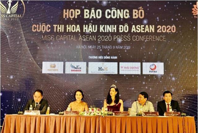 họp báo công bố cuộc thi Hoa hậu Kinh đô ASEAN 2020 – Miss Capital ASEAN 2020.