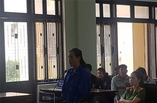 Nguyễn Thị Băng Tâm tại tòa.