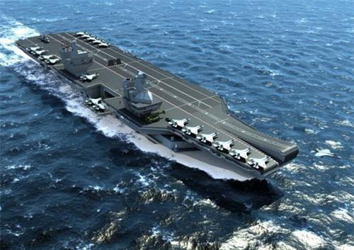 Tàu sân bay HMS Queen Elizabeth của Hải quân Hoàng gia Anh. Ảnh: Naval Today.