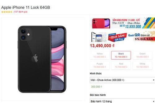 iPhone 11 khóa mạng Mỹ gây sốt ở Việt Nam, giá hơn 13 triệu đồng - Ảnh 1.