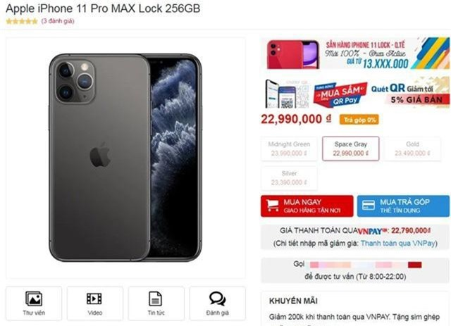 iPhone 11 khóa mạng Mỹ gây sốt ở Việt Nam, giá hơn 13 triệu đồng - Ảnh 2.
