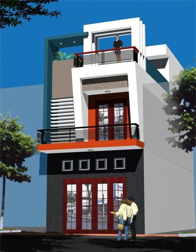 Mẫu nhà phố 2 tầng tuyệt đẹp cho khu đất mặt tiền hẹp - ảnh 4