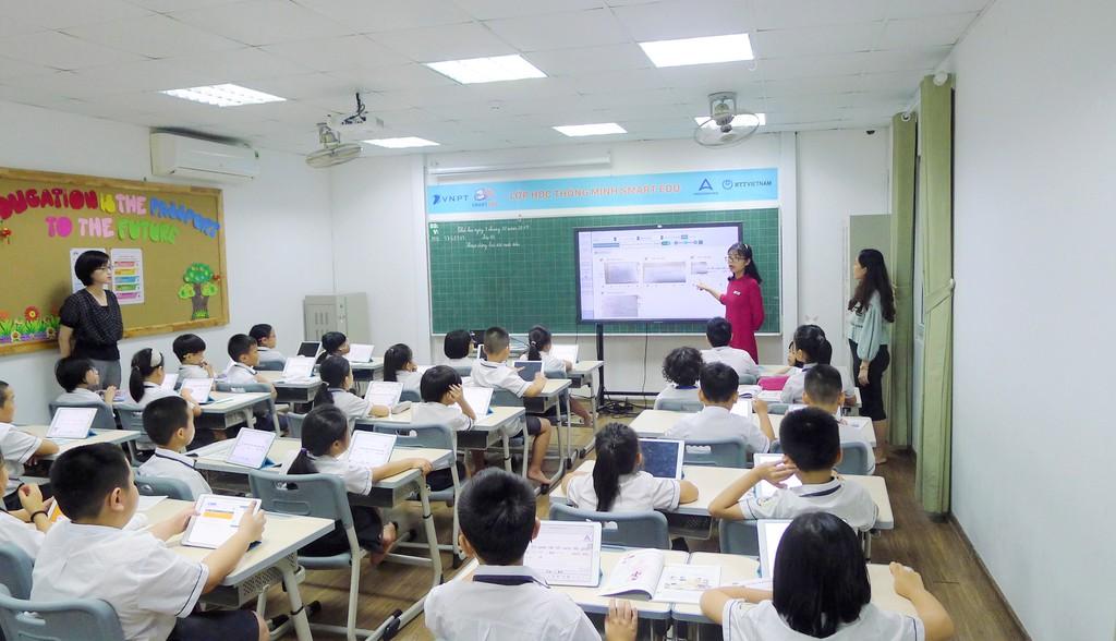 Tiết học áp dụng SmartEdu tại trường tiểu học Archimedes