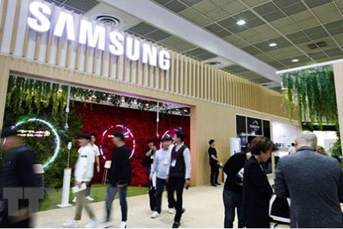 Gian hàng của Samsung tại Triển lãm điện tử Hàn Quốc ở Seoul ngày 8/10/2019.