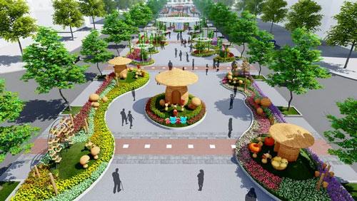 Nhiều tạo hình độc đáo ở đường hoa Nguyễn Huệ Tết Canh Tý 2020