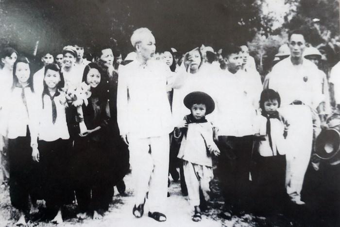 Chủ tịch Hồ Chí Minh. Ảnh tư liệu