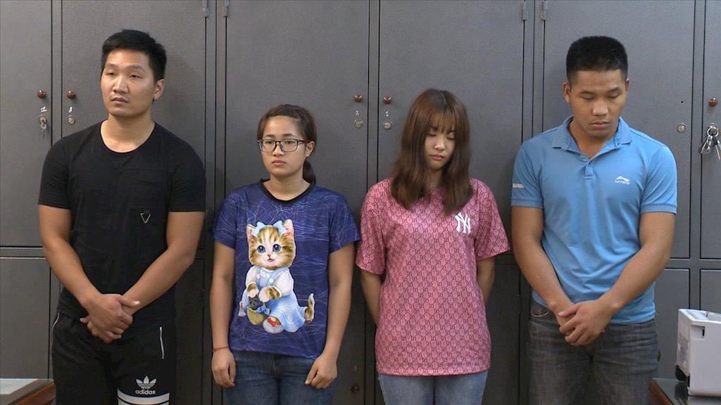 ốn sinh viên trong vụ án tấn công vào hệ thống của 5 ví điện tử bị bắt giữ hồi tháng 5/2019. Nguồn ảnh: Bộ Công an