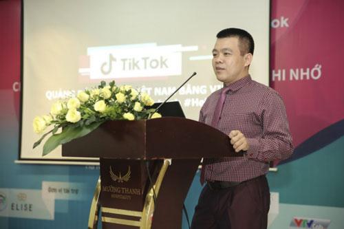 Ông Nguyễn Lâm Thanh - Đại diện TikTok Việt Nam phát biểu tại lễ công bố.