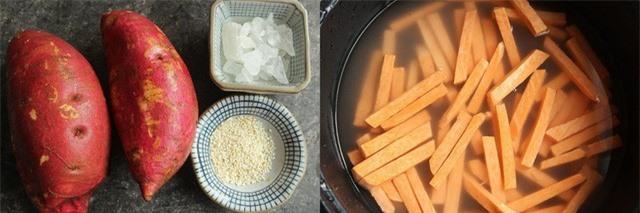 Khoai lang chiên tẩm mè - món ăn vặt đã ngon còn tốt đủ đường - Ảnh 2.