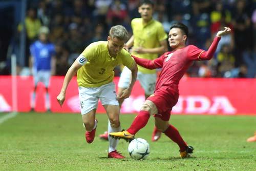 Theerathon không thể hiện được nhiều trong trận đấu gần nhất với Việt Nam.