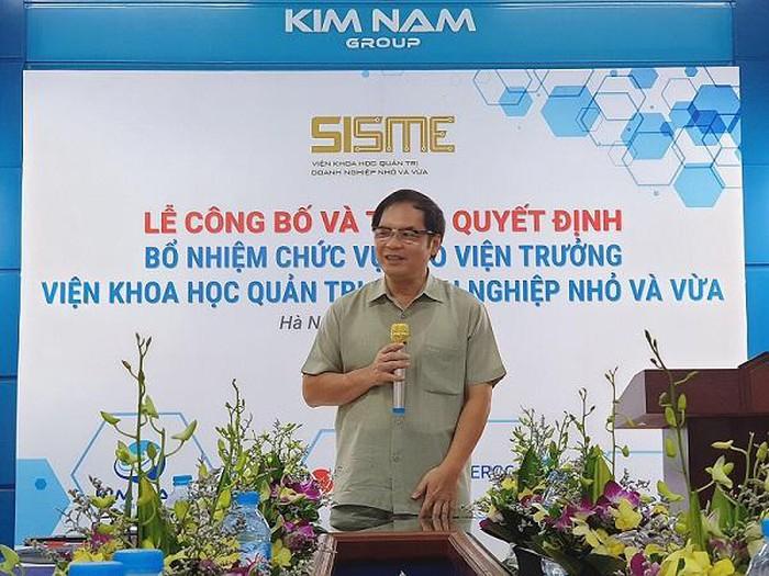 Chủ tịch VINASME Nguyễn Văn Thân phát biểu tại sự kiện.