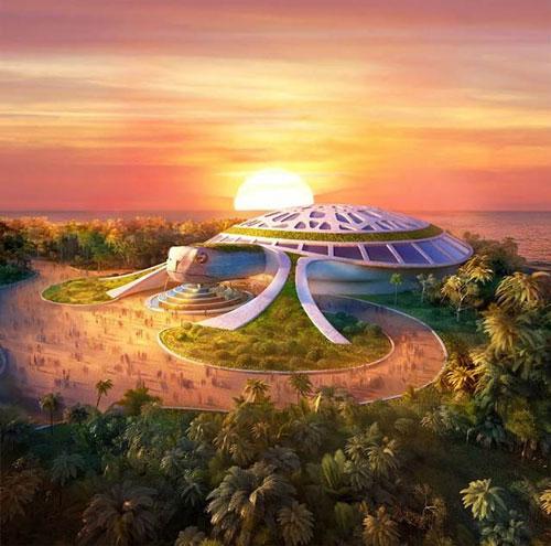 Thủy cung rùa biển khổng lồ với diện tích 15.000 m2