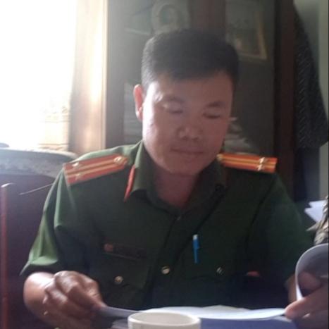 Trung tá Lê Minh Chánh - Trưởng CA thị trấn Dương Đông.