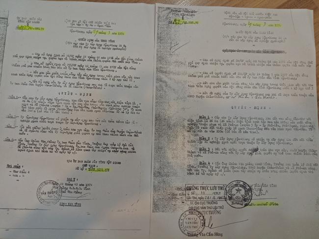 Gia đình ông Nhan Thủy Phúc điêu đứng suốt 41 năm qua vì hai quyết định cùng ngày, cùng tháng, cùng năm, cùng nội dung nhưng... khác số (ảnh TM).