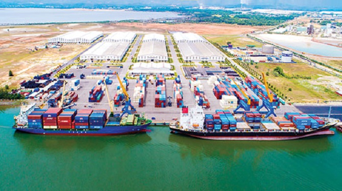 Trung tâm Logistics và cảng Chu Lai (Ảnh: TL)